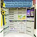 poster style science fair display board mounted on an  tri-fold display board
