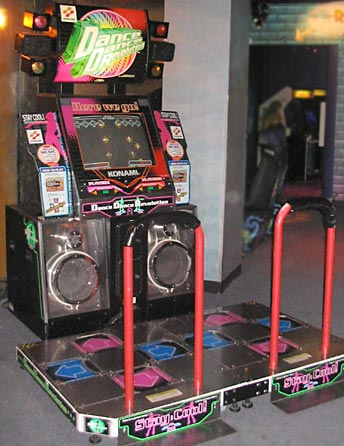 Video and Computer Games Science Project photo of the original arcade version of Dance Dance Revolution