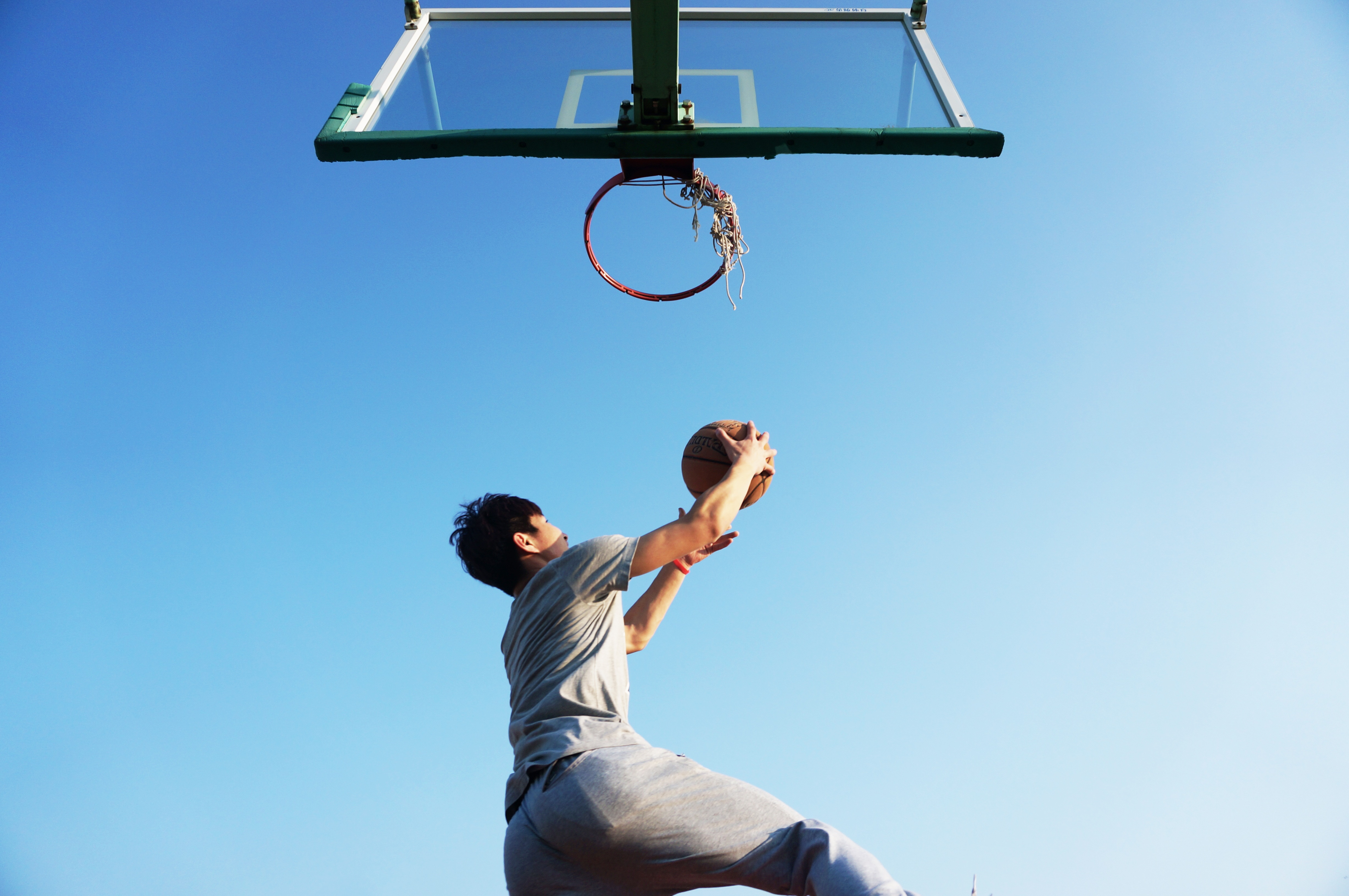 heart patient with pacemaker playing basketball