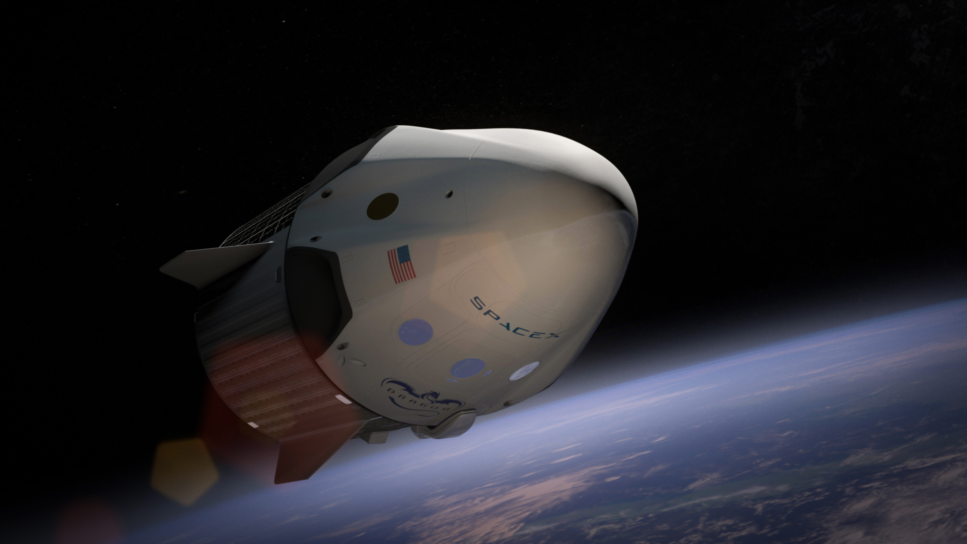 artist's rendering of NASA's Orion spacecraft