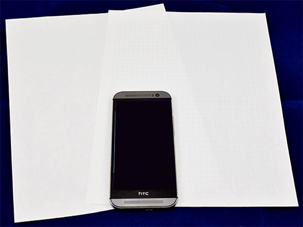 materials printer paper, graph paper, and phone with google's science journal app