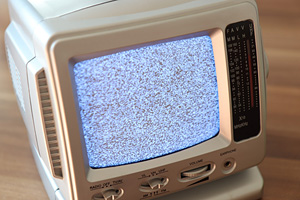 static on a CRT TV