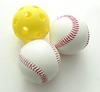 materials balls of different mass