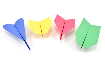 different paper airplane designs