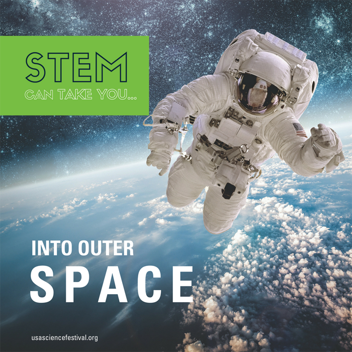 Where can STEM take you -- Space! USASEF Festival image