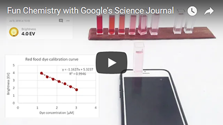 Fun Chemistry with Google's Science Journal App