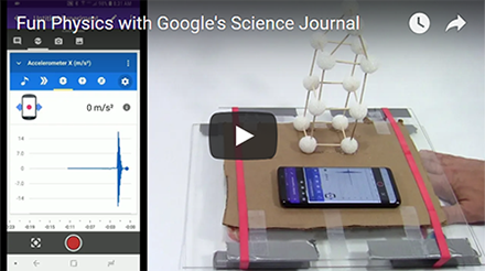 Fun Physics with Google's Science Journal app