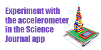 Google's Science Journal app and the accelerometer