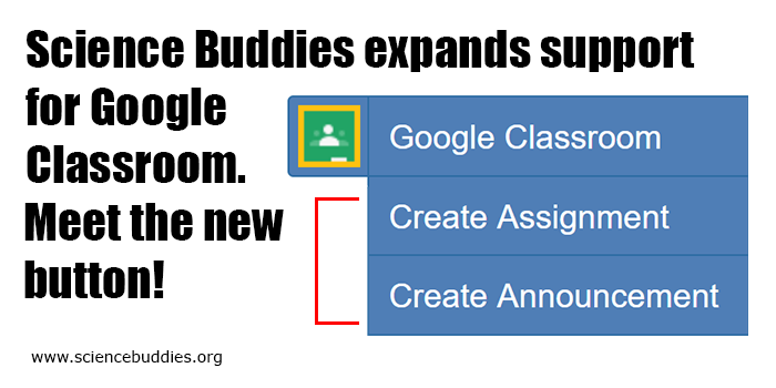 Science Buddies expands support for Google Classroom. Learn more about the updated button.