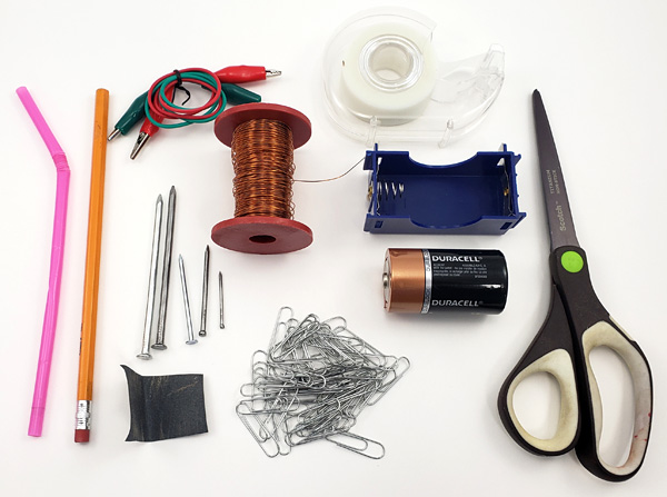 materials for electromagnet lesson plan