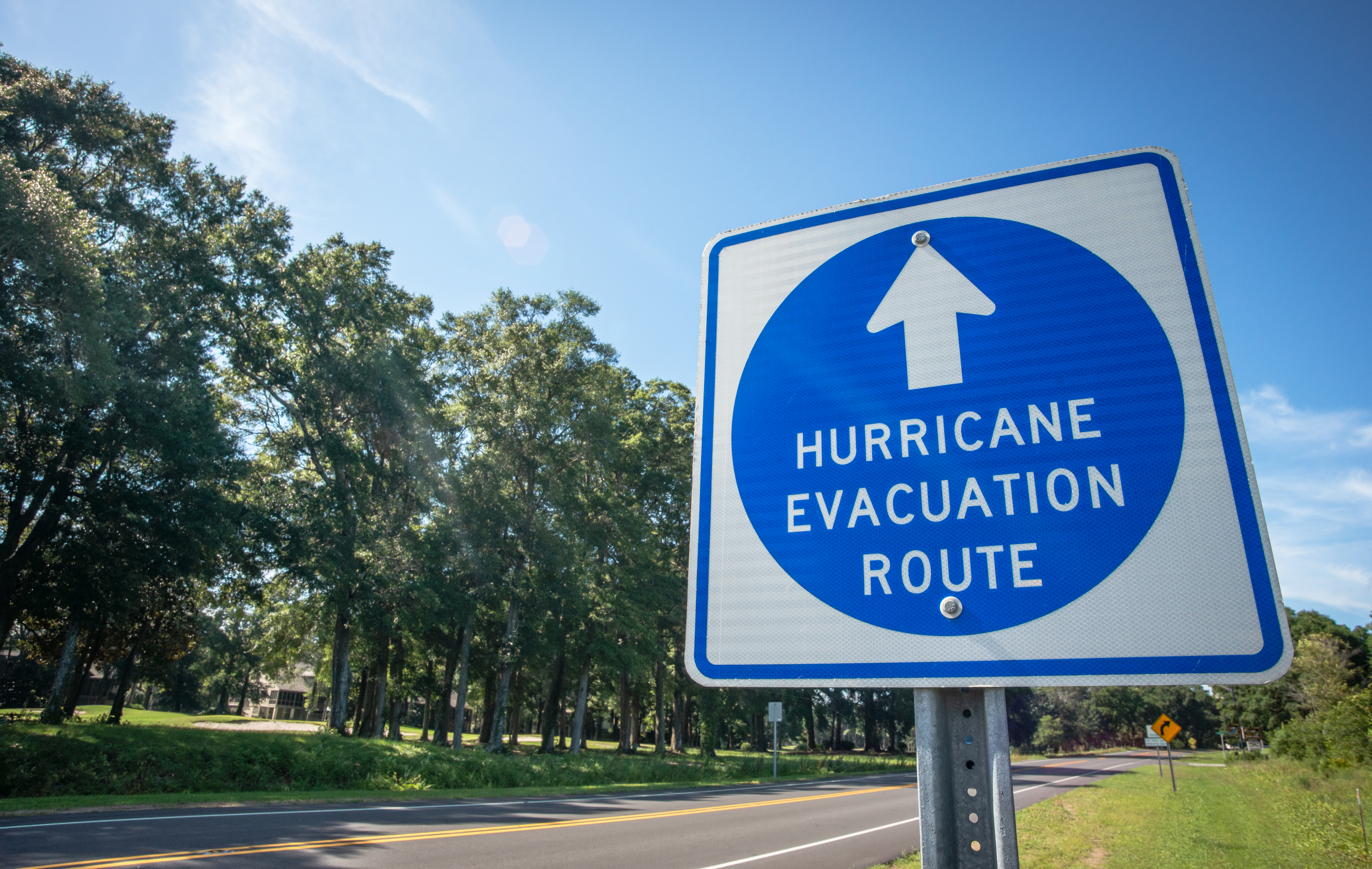 Hurricane emergency route