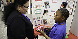 Student presents Invention Convention project