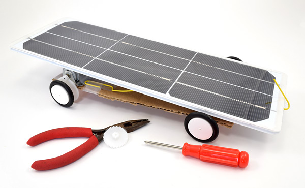 Solar powered car for junior solar sprint