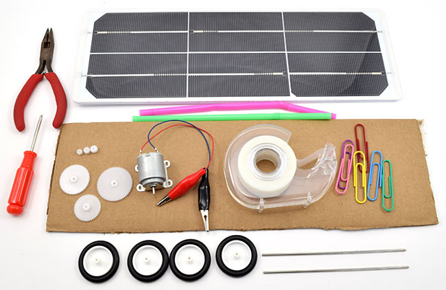 Materials to build a solar powered car