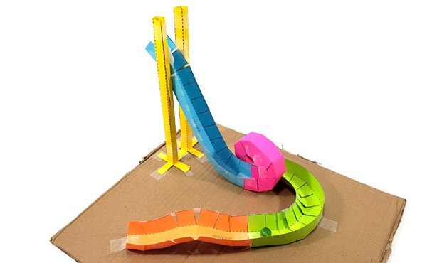 Paper roller coaster lesson plan