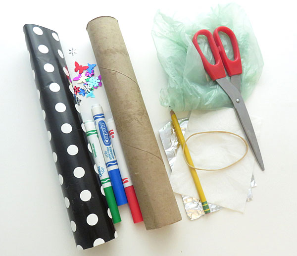 Materials needed to build the kazoo as explained in this science activity