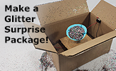Student engineering: Make your own glitter surprise package with a simple circuit!