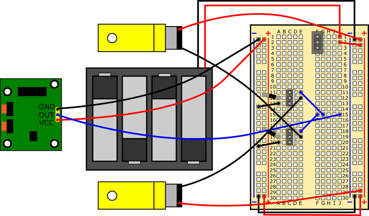 Motors with wires switched
