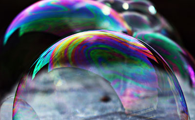 surface of a bubble for materials science project