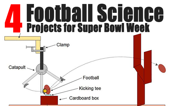 Four football science projects for Super Bowl Week, including this project on distance and kicking