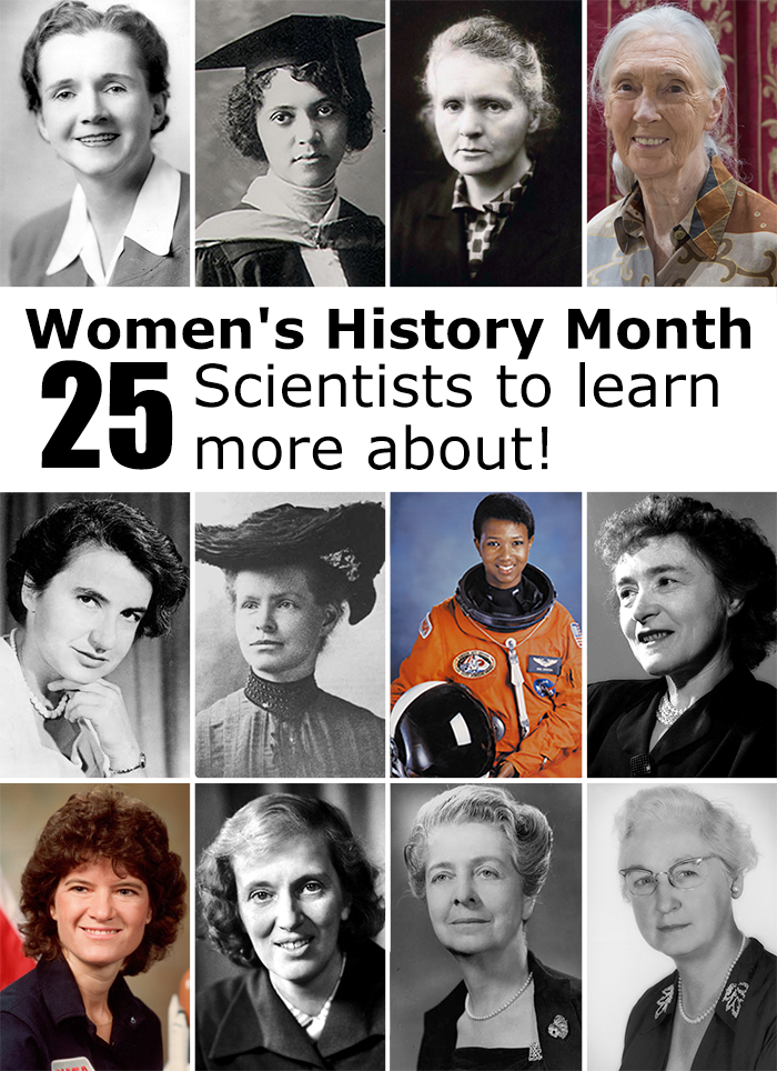 Images of 12 of the 25 women scientists featured