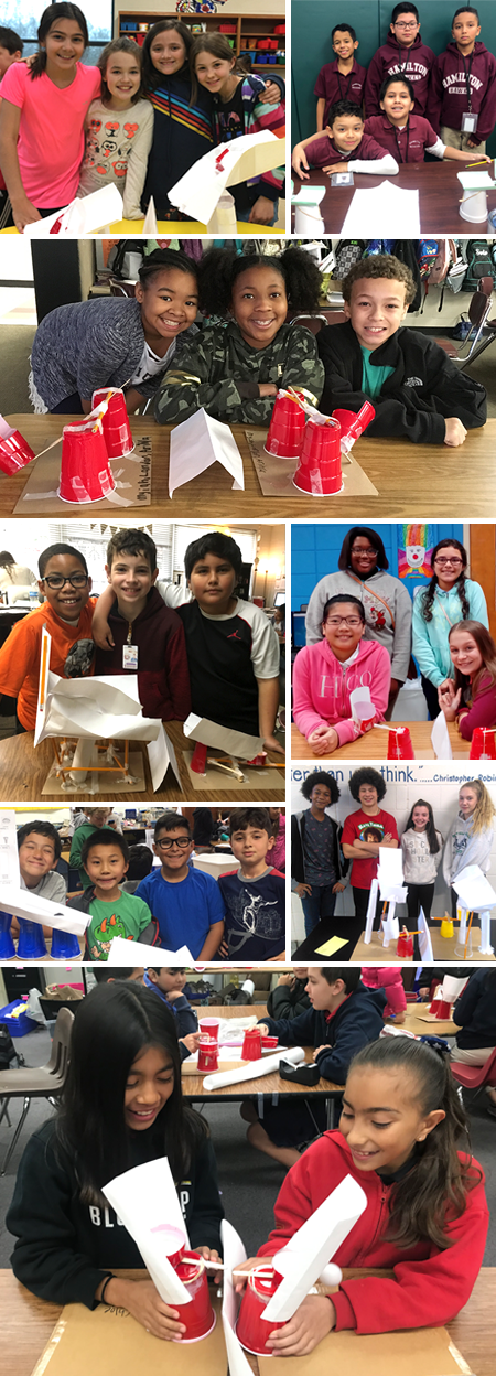 Some of the many student teams that entered the 2019 Fluor Engineering Challenge