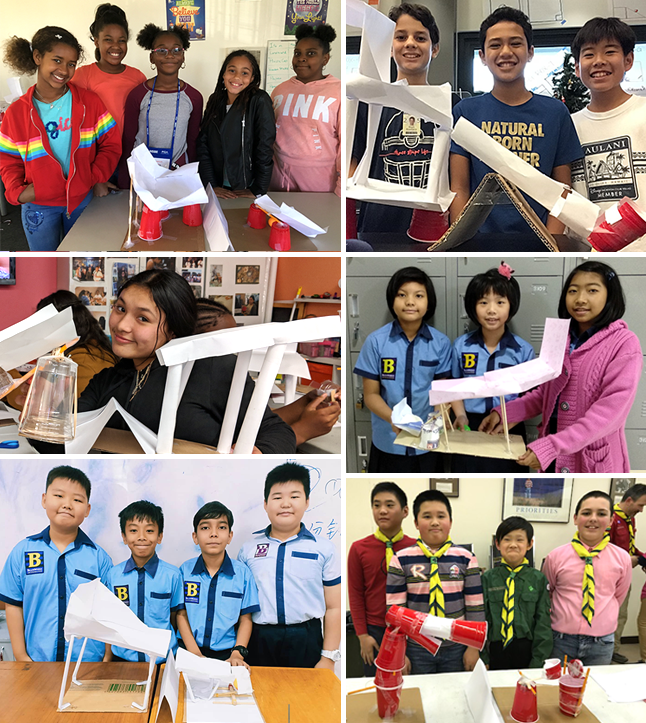 Photos of six teams who entered the 2019 Fluor Challenge
