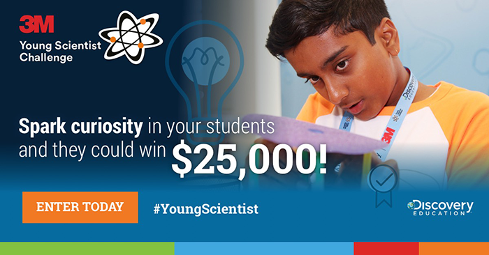 3M Young Scientist Challenge is looking for America's 2019 Top Young Scientist! 3 weeks left to enter!