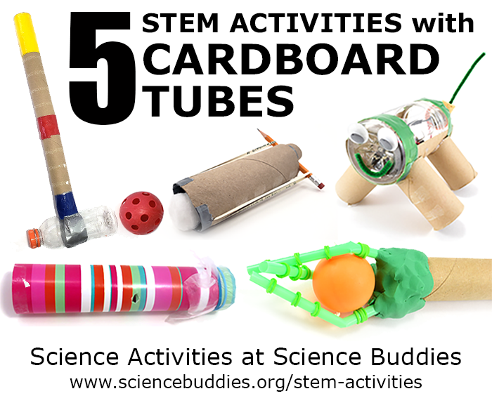 Five STEM activities with cardboard tubes