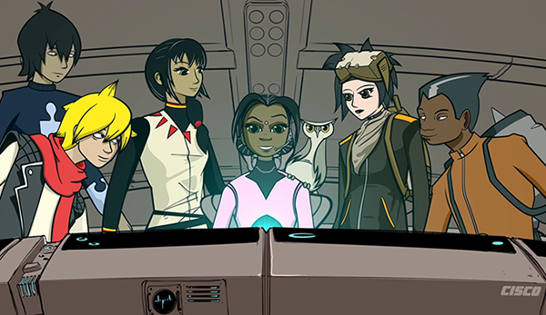 Global Problem Solvers: Team photo from the animated series