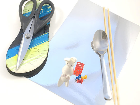 Materials needed for the curved mirrors STEM activity