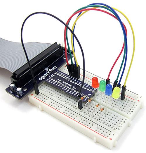 piano circuit 4 LEDs