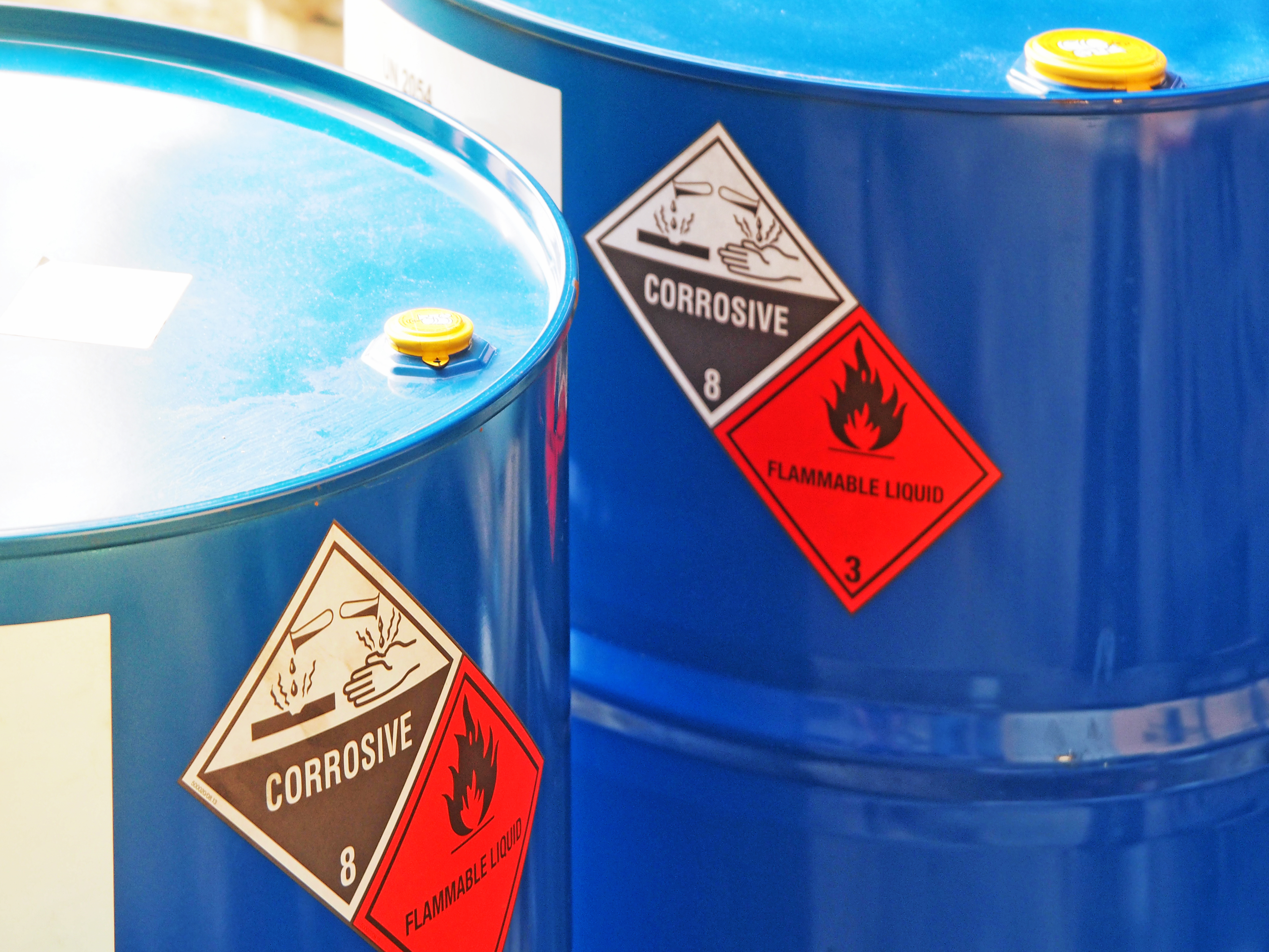 poster explaining hazardous materials labeling system