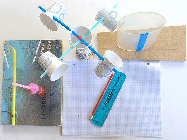 Materials needed for this weather station STEM lesson.