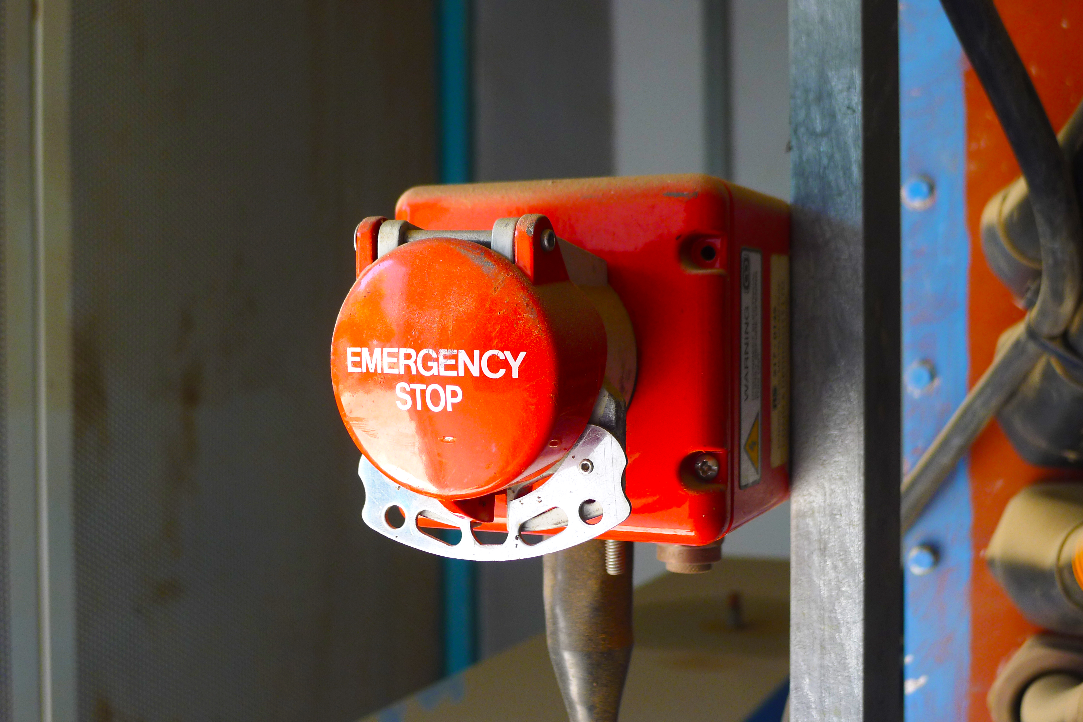 emergency stop panic button
