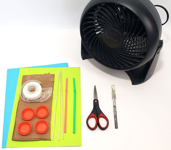 Materials to build a wind powered car
