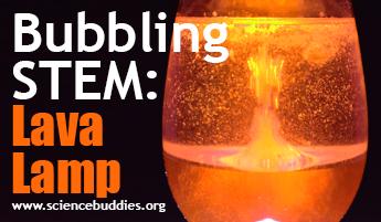 Halloween STEM - lava lamp bubbling activity