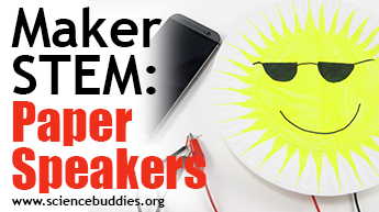 Makerspace STEM: Example of paper speakers activity