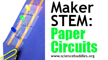 Makerspace STEM: Example of paper circuits activity