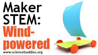 Makerspace STEM: Example of wind-powered car activity