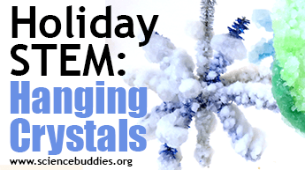 Make and Give STEM: Example of crystals activity ornaments