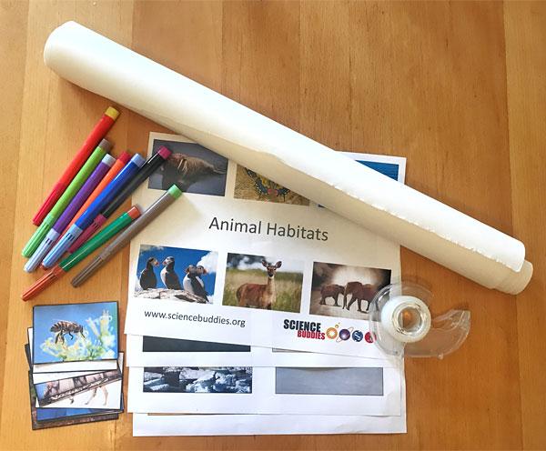 materials for animal habitats lesson plan
