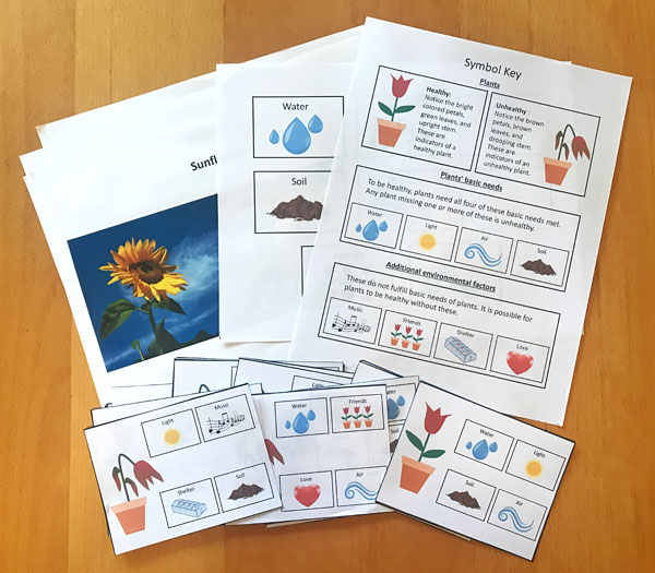 materials needed for plants needs lesson plan