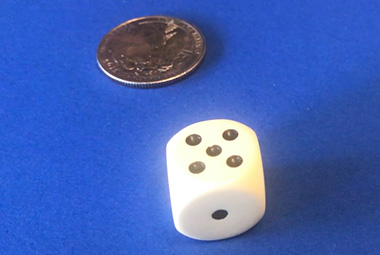 probablity image of die and coin