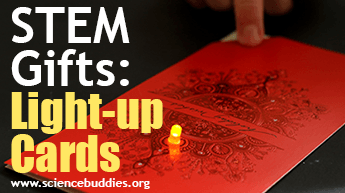 Make and Give STEM: Example of paper circuit project to make light-up greeting cards