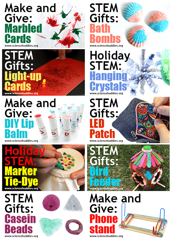 Holiday STEAM 10 creative projects from Science Buddies to Make and Give