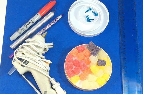 Materials needed to do the STEM gear activity.