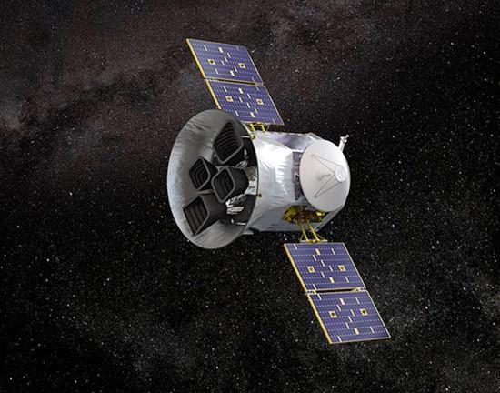 Illustration of NASA's Transiting Exoplanet Survey Satellite  TESS