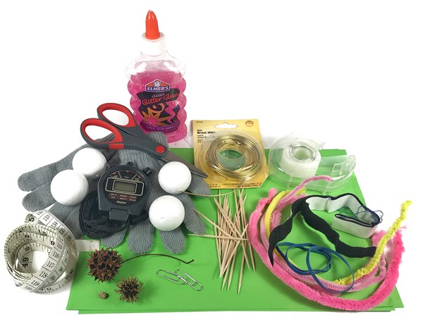 Materials needed for the seed design lesson.