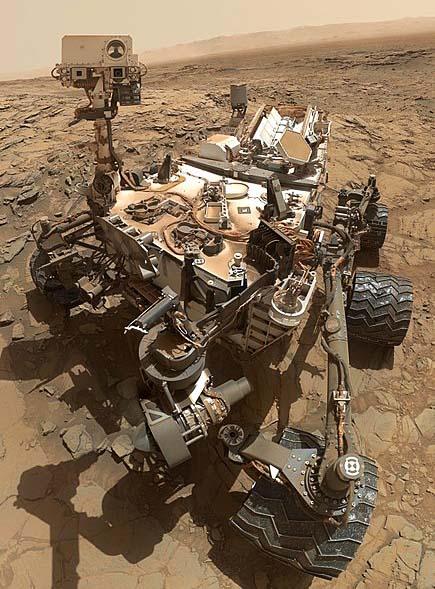 The Mars curiosity rover.